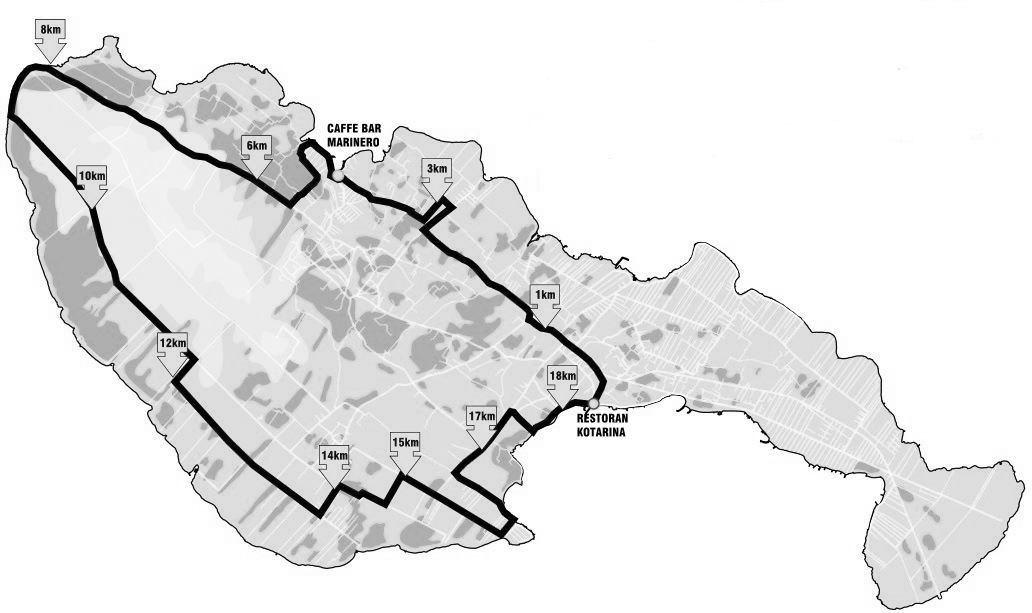 Vir – Biciklom od Restorana Kotarina do šetnice Jadro
